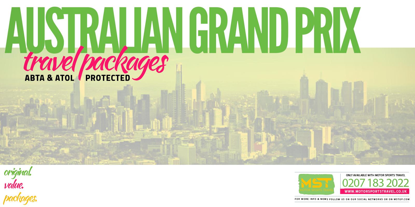 2020 Formula 1 Australian Grand Prix travel packages Motor