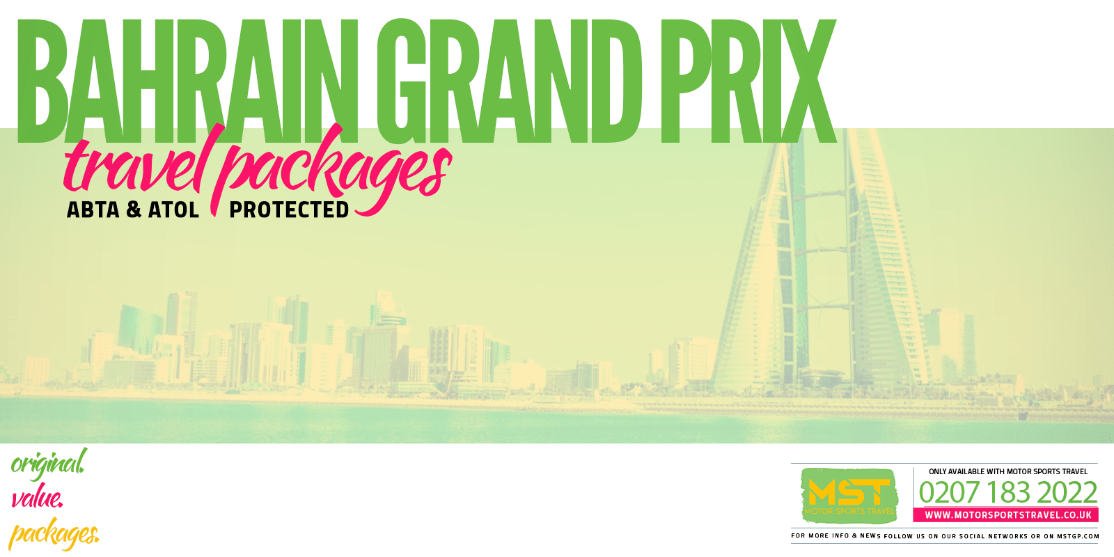 2020 Bahrain Grand Prix FORMULA 1 Packages | Motor Sports Travel