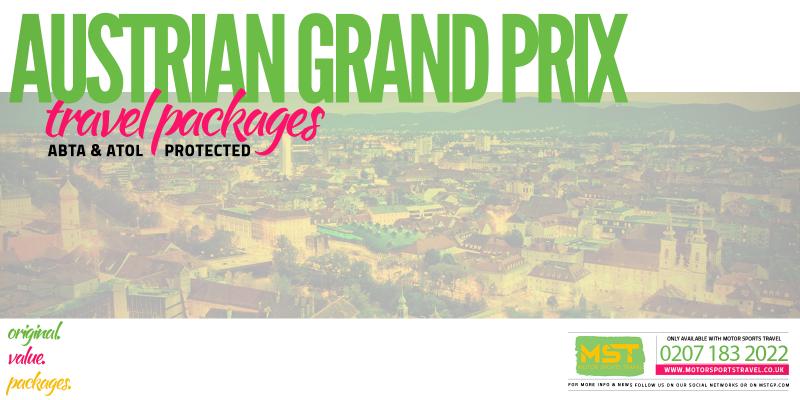 2019 Formula 1 Austrian Grand Prix Travel Packages