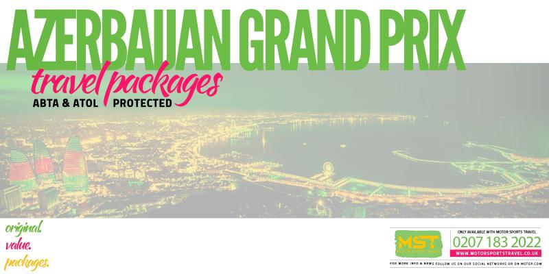 2020 Formula 1 Azerbaijan Grand Prix Travel Packages