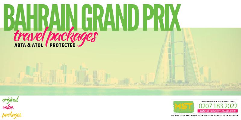2020 Formula 1 Bahrain Grand Prix Travel Packages