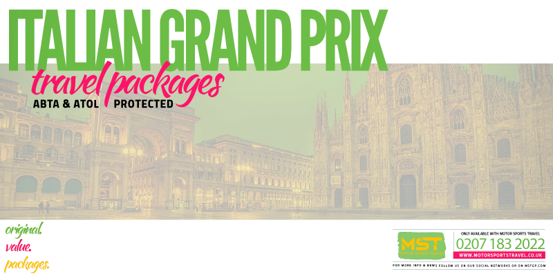 2019 Formula 1 Italian Grand Prix Travel Packages